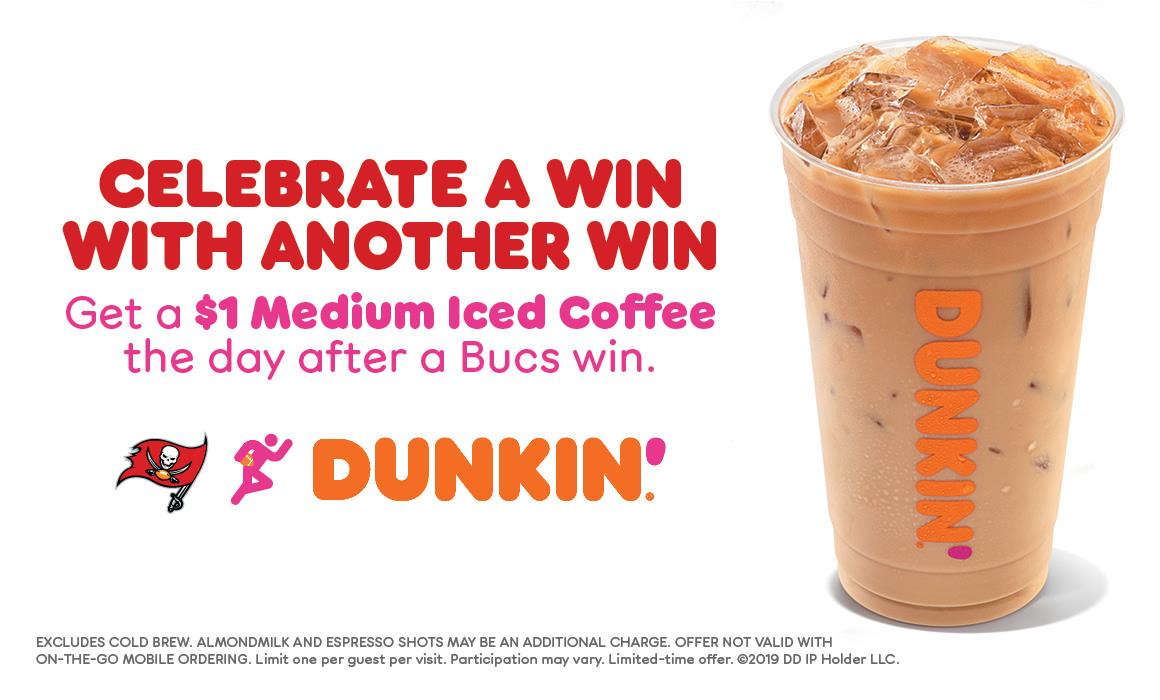 Bucs Win, You Win with Dunkin'