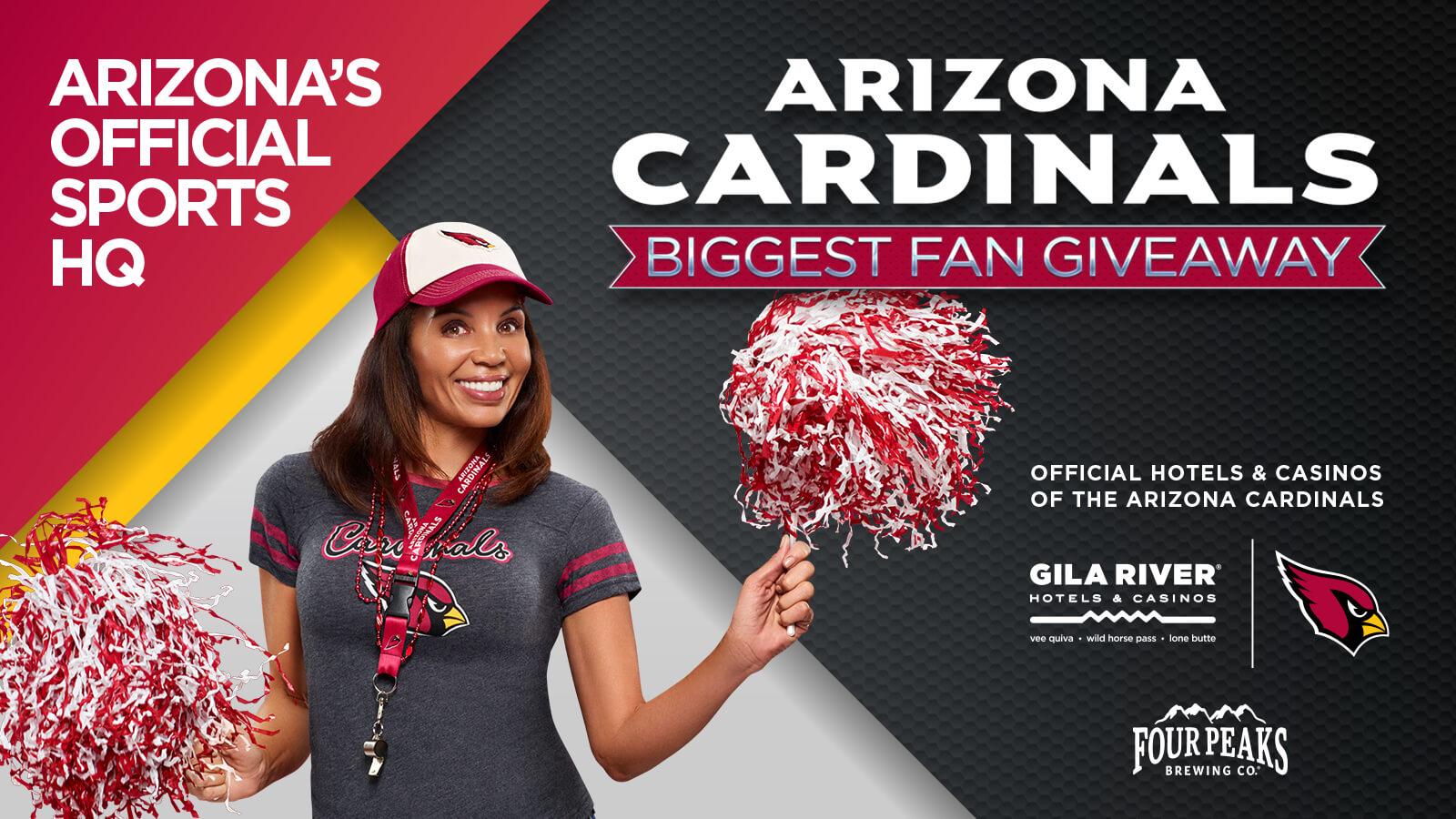 Arizona Cardinals Biggest Fan Giveaway