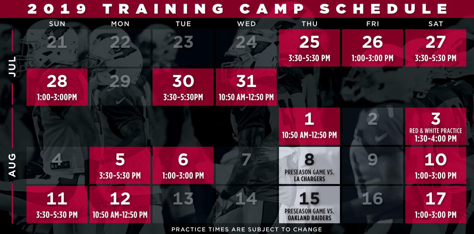 picture relating to St Louis Cardinals Printable Schedule named Cardinals Exercising Camp Arizona Cardinals -