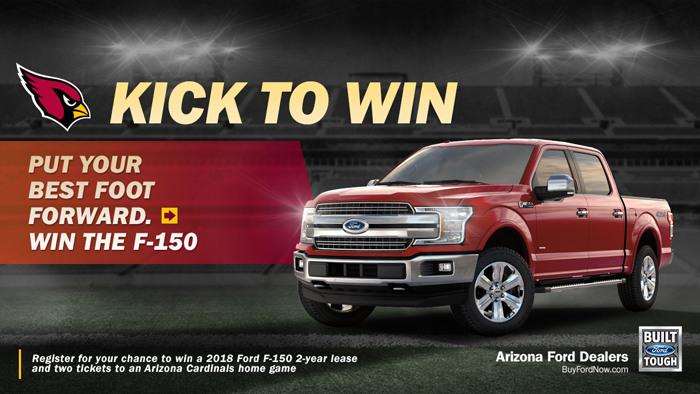 Arizona Ford Dealers Kick To Win