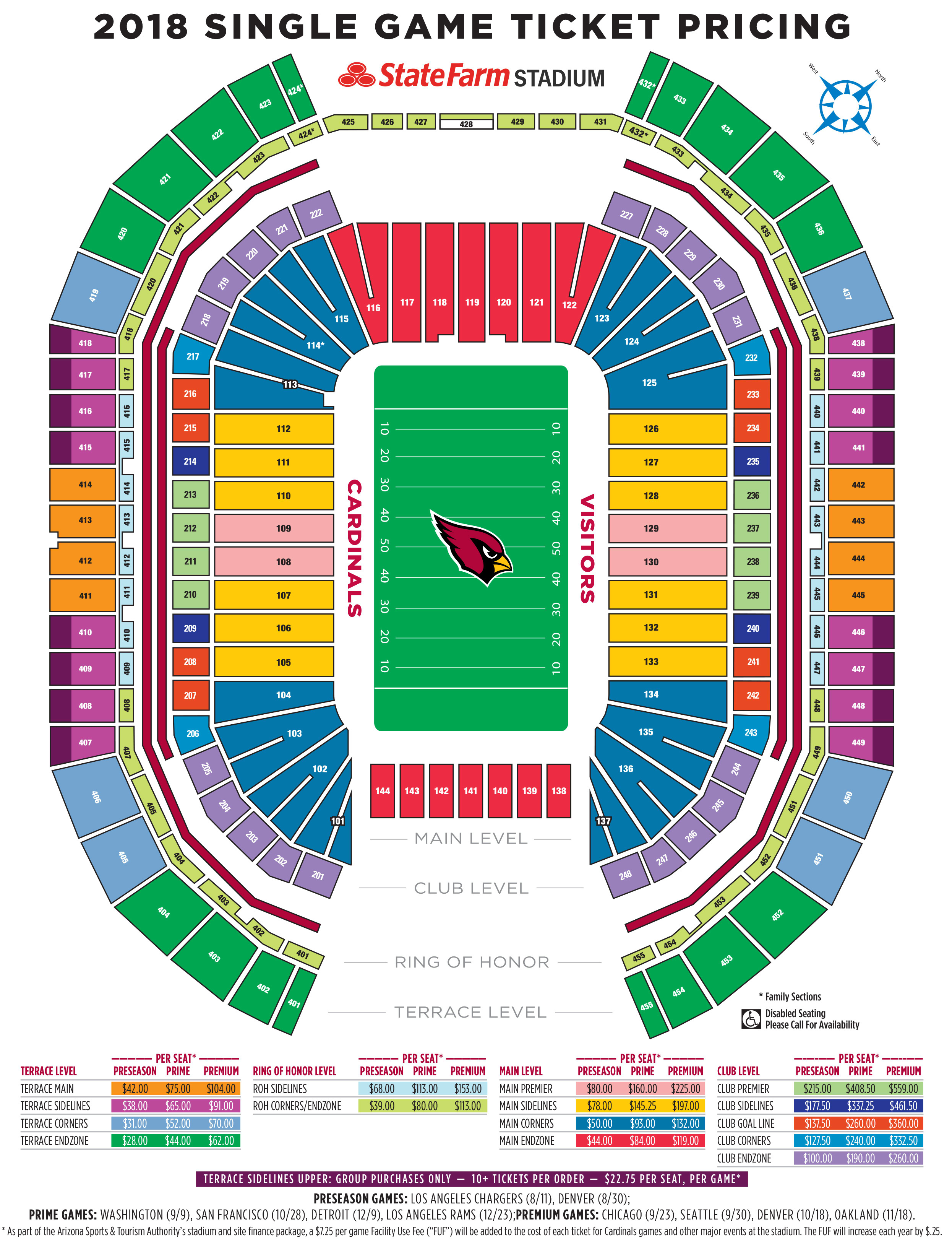 Cardinals Stadium Map Cardinals Official Team Website I Arizona Cardinals – AZCardinals.com Cardinals Stadium Map
