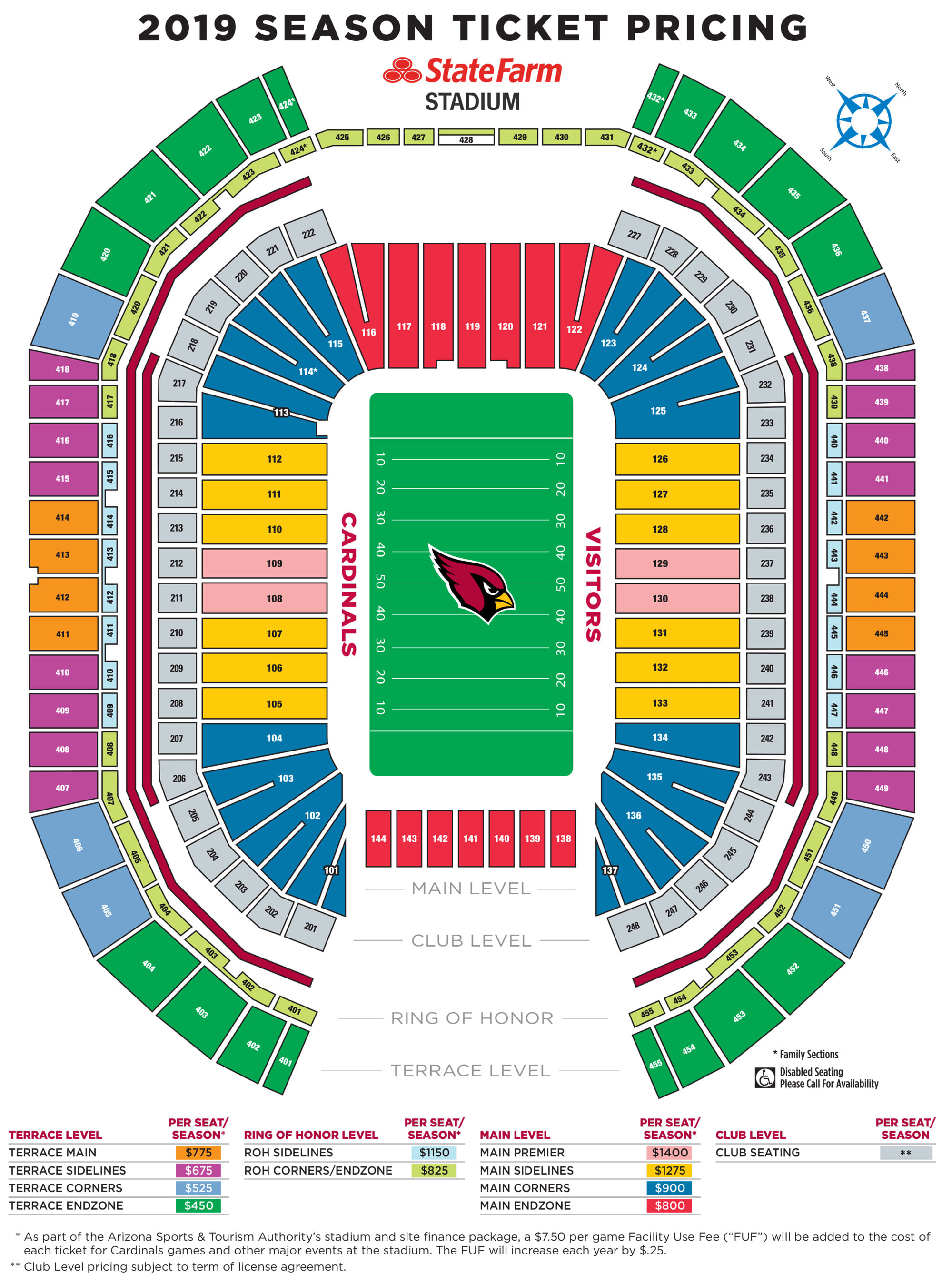 Arizona Cardinals Stadium Map Cardinals Official Team Website I Arizona Cardinals – AZCardinals.com