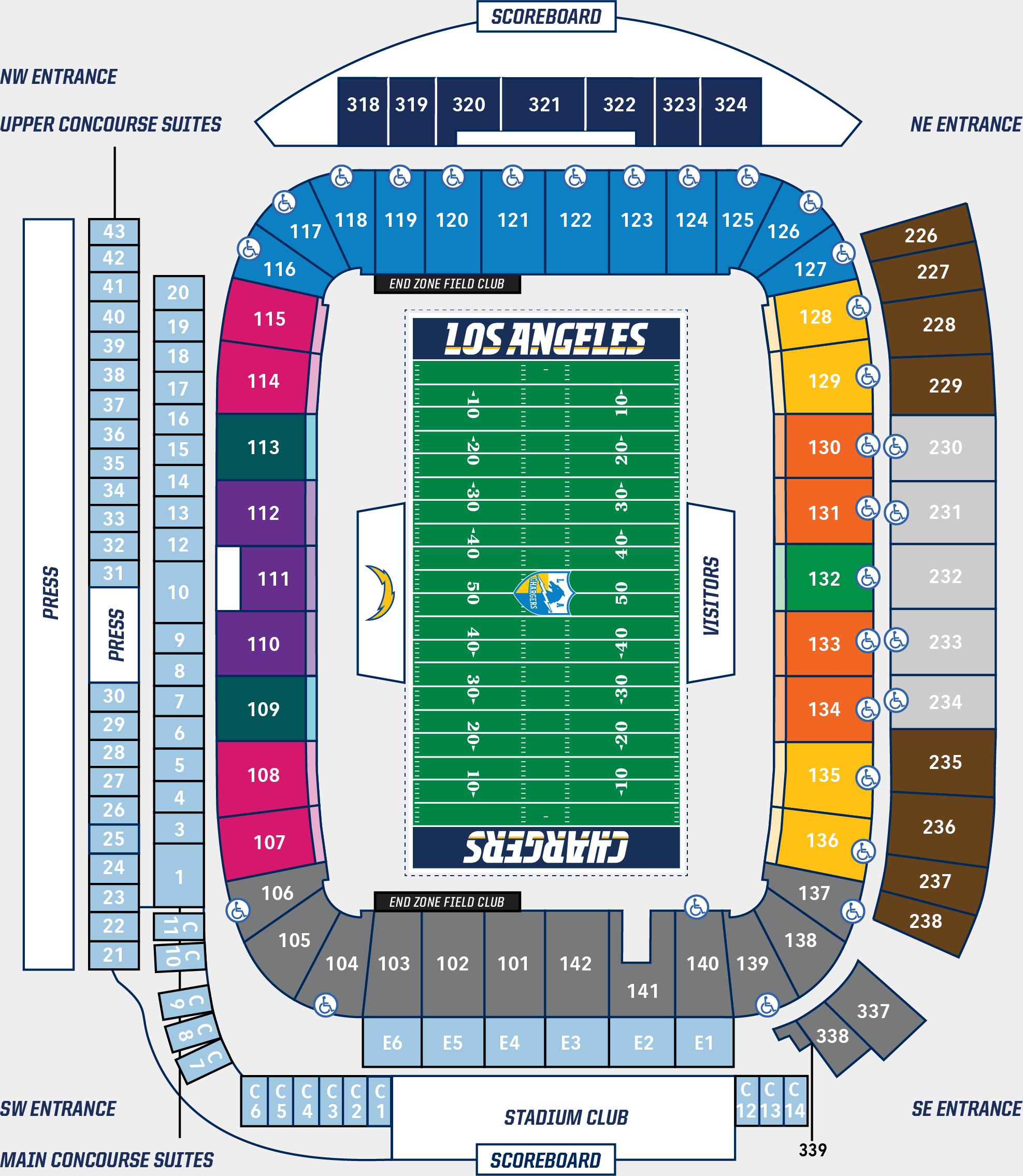 Qualcomm Stadium Seating Chart Seating Chart Los Angeles