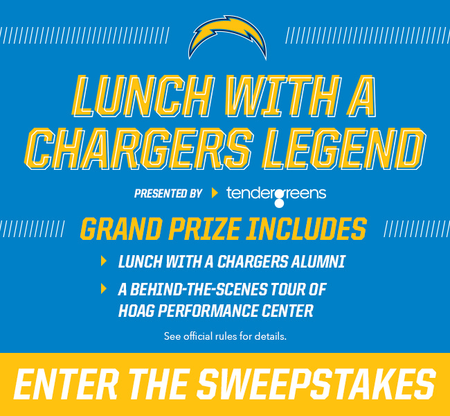 Lunch with a Chargers Legend presented by Tender Greens