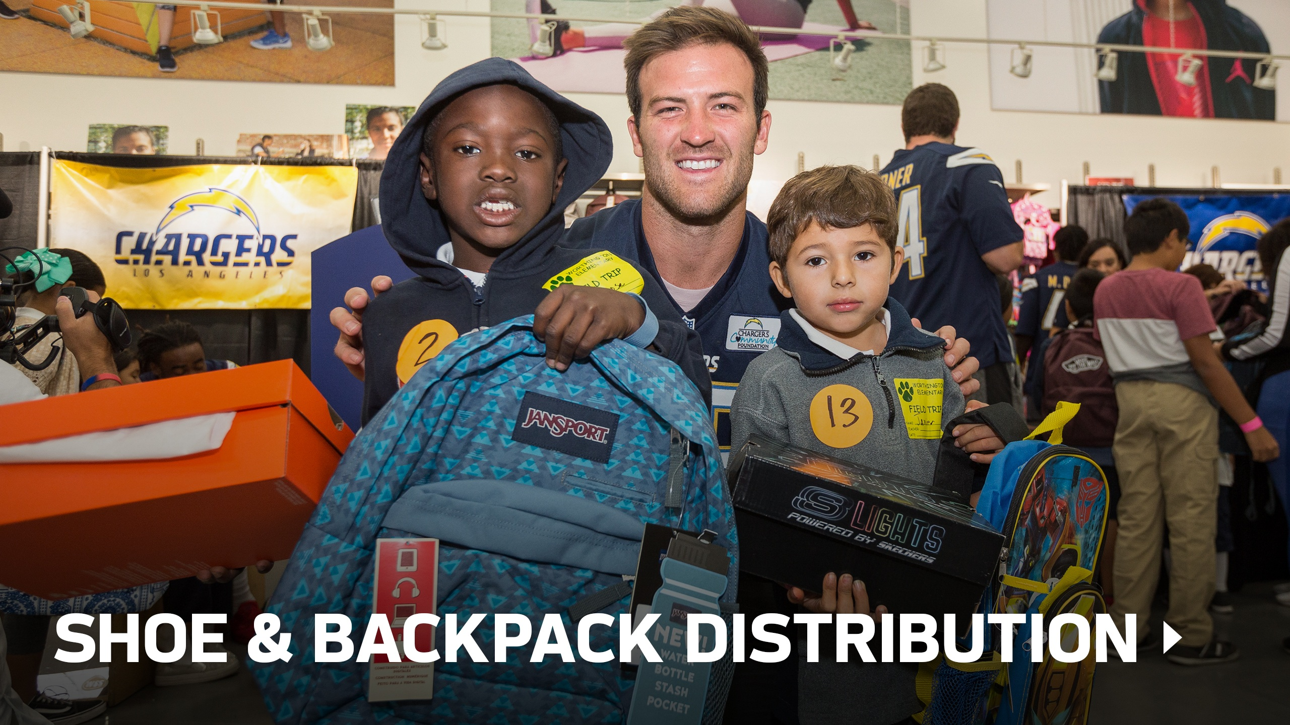 Shoe and Backpack Distribution