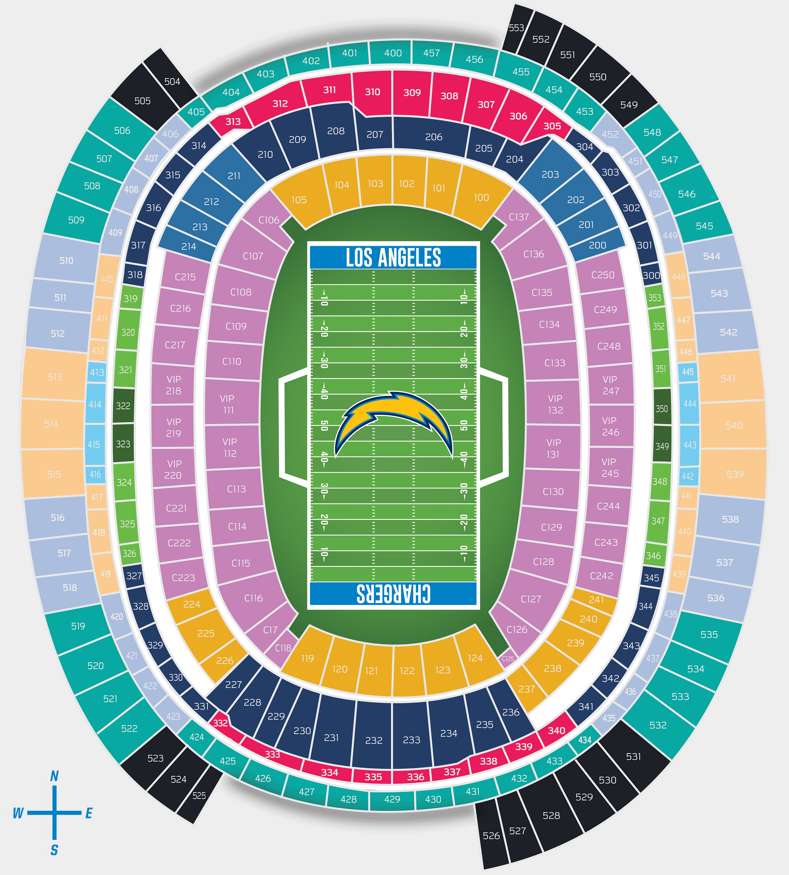 Chargers La Stadium Pricing Los Angeles Chargers
