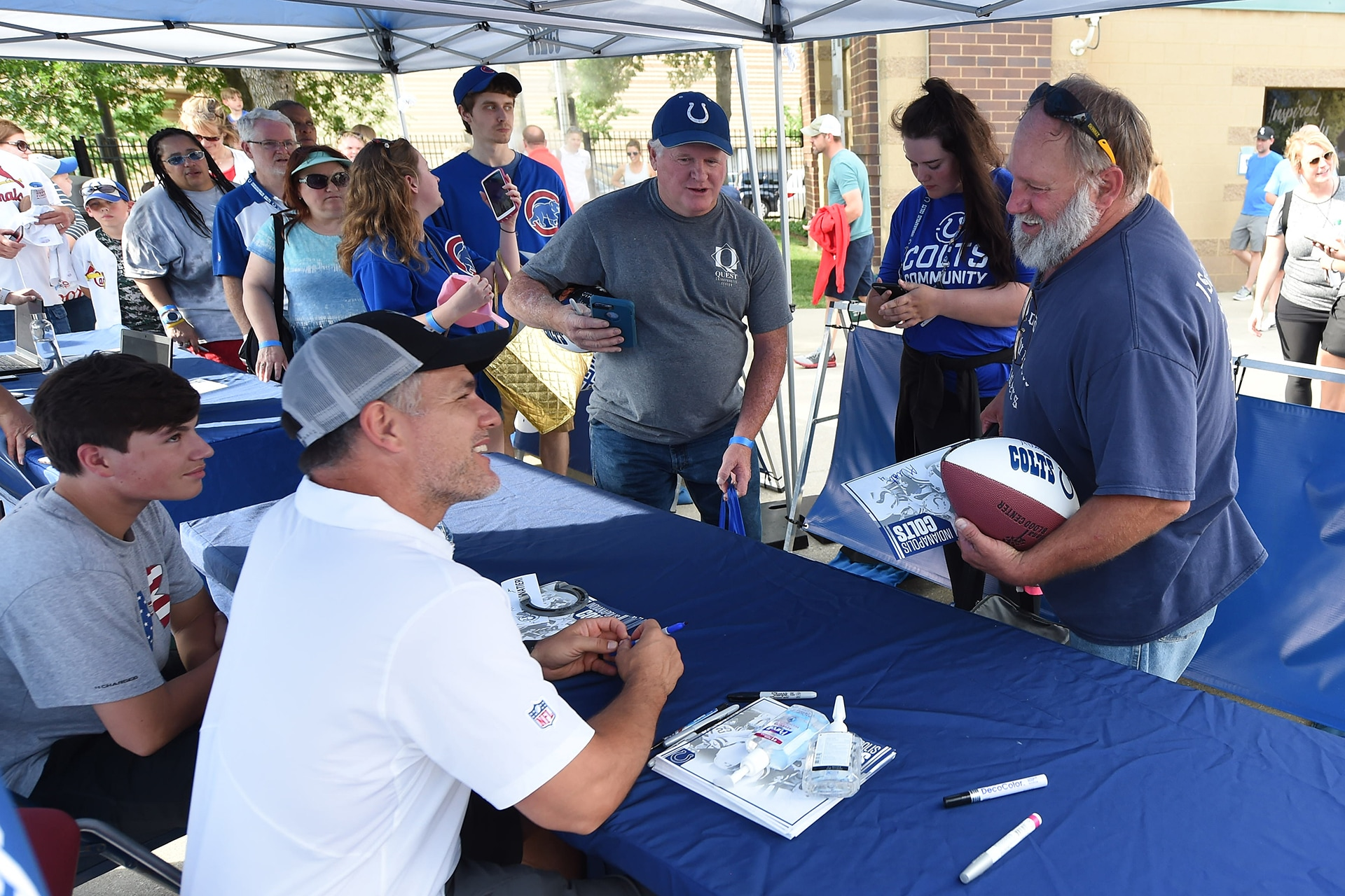 Autographs and Photos with the Colts
