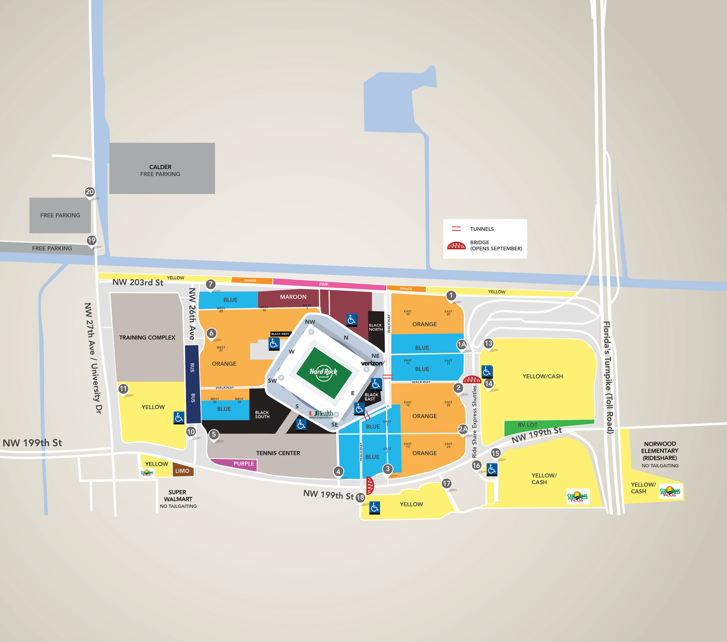 parking map | miami dolphins - dolphins