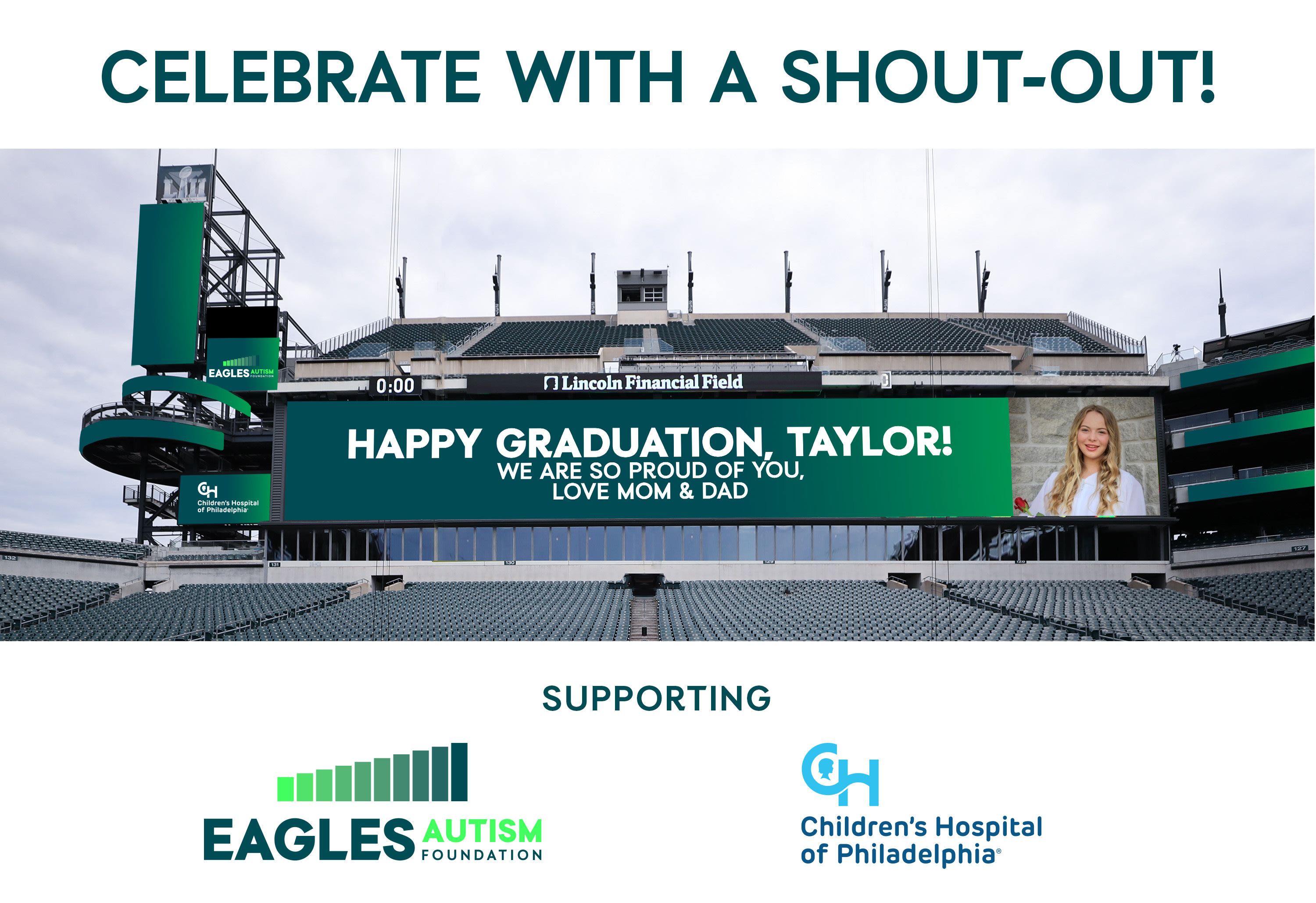 Celebrate with a shoutout