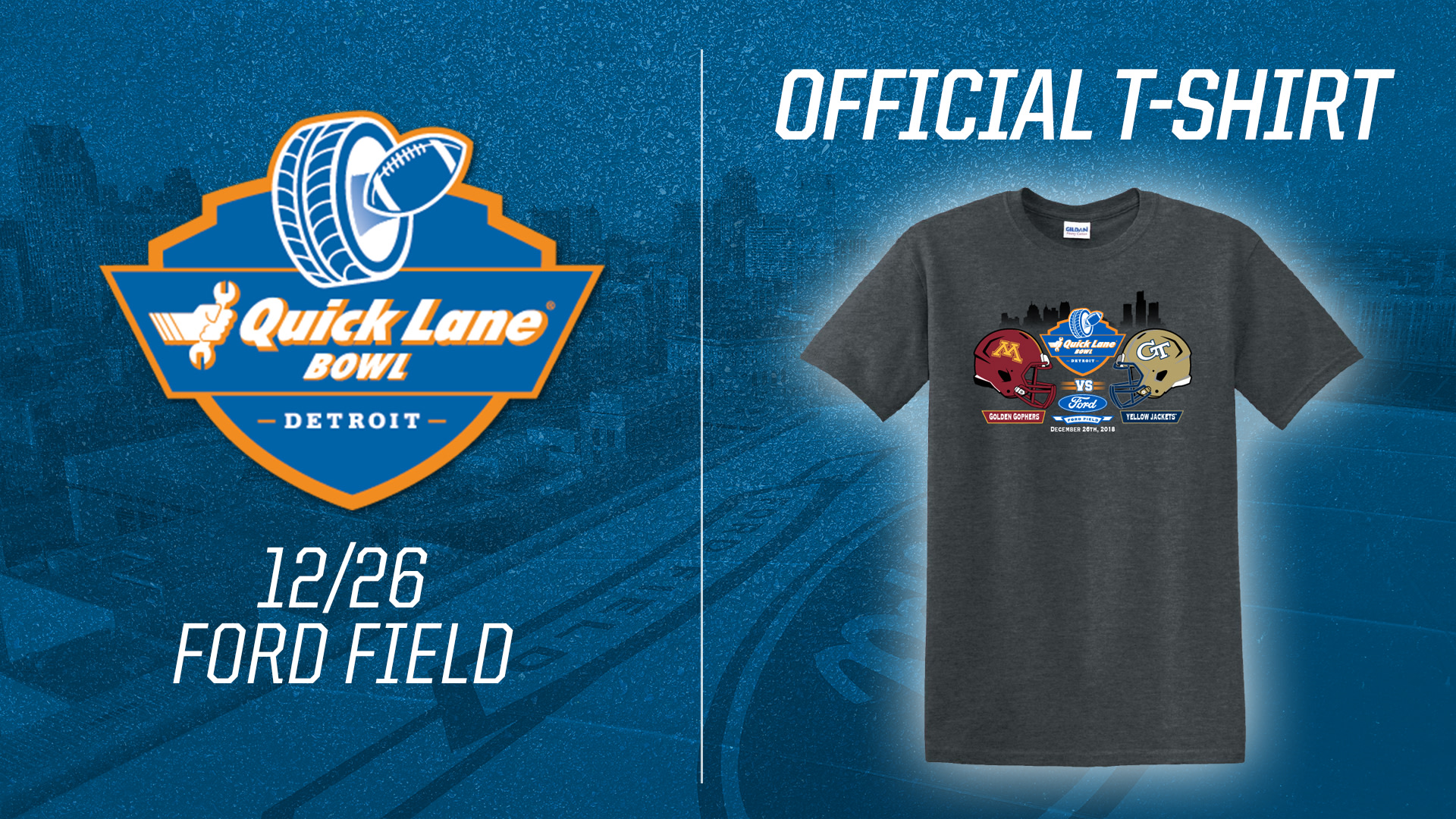 Get your official Quick Lane Bowl merchandise at Ford Field on game day! See you December 26th!