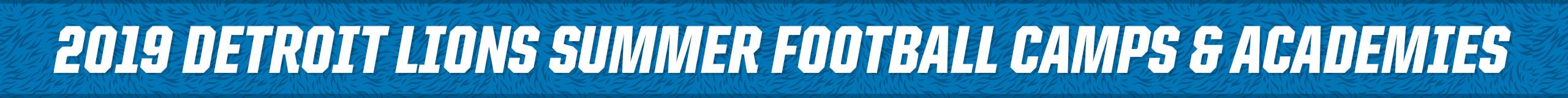 8754dcee Detroit Lions Football Education - Summer Camps | Detroit Lions ...