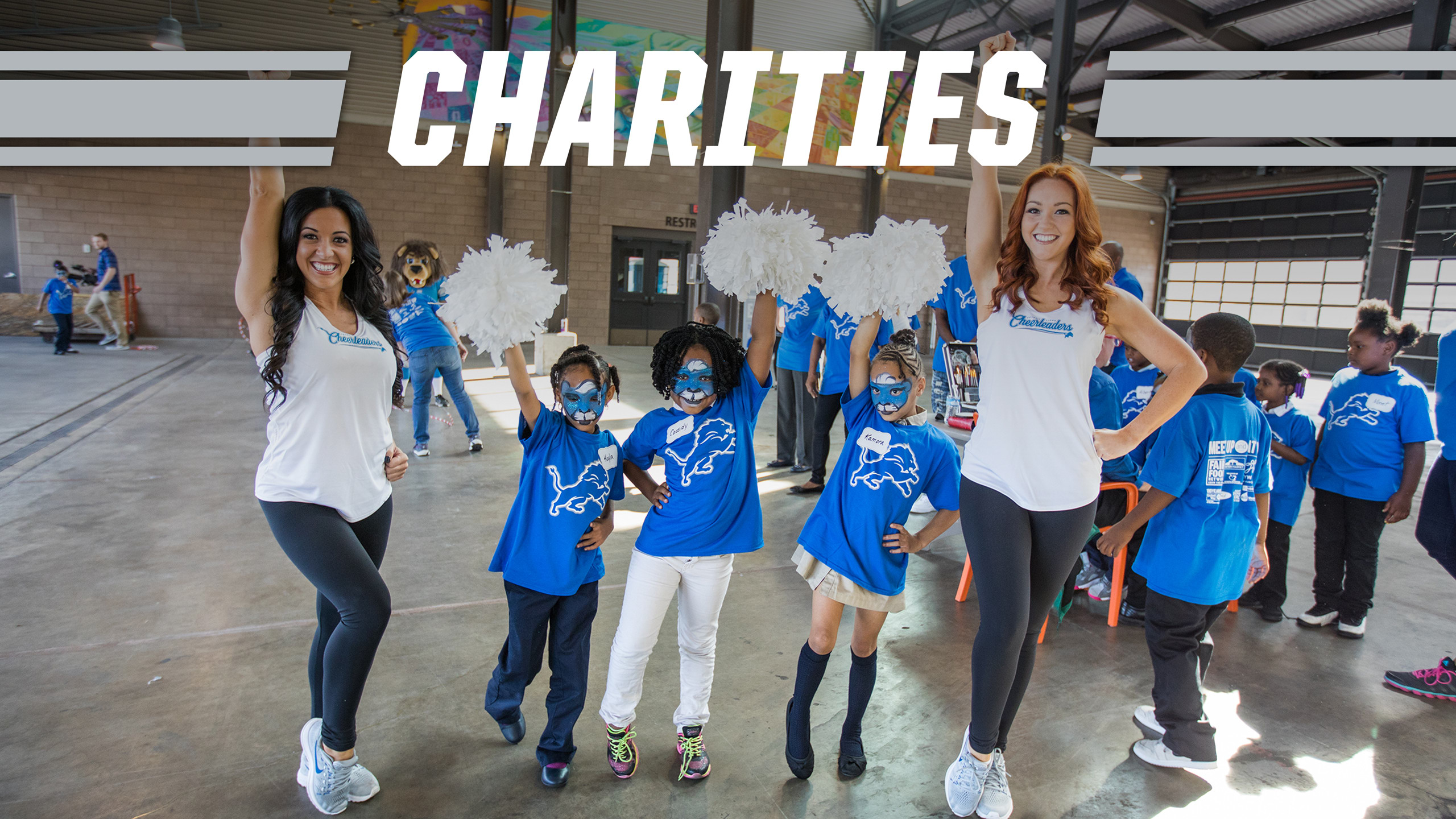 detroit lions youth cheerleading camp