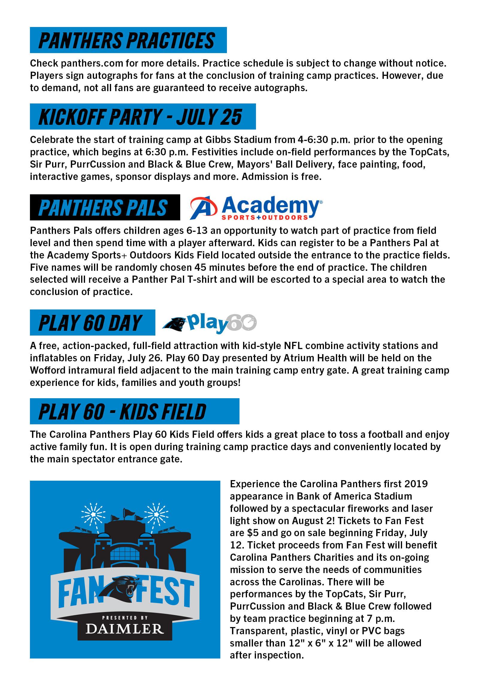Panthers Training Camp | Carolina Panthers - Panthers com