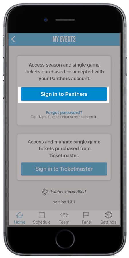 Sign in to Panthers