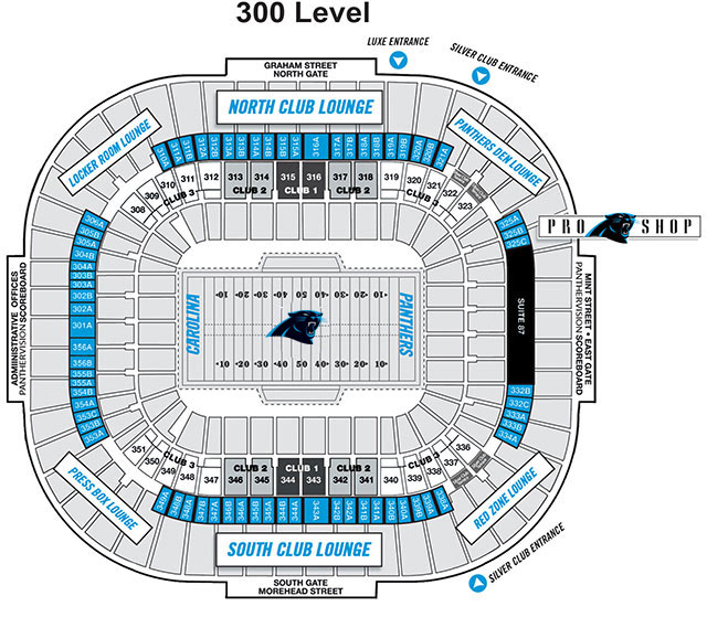 Silver Club Carolina Panthers Pantherscom