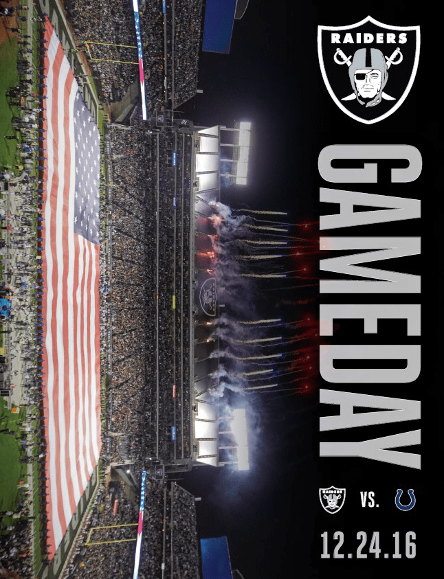 2016 Gameday Magazines Raiders Com