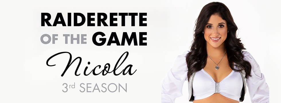 Raiderette of the Game