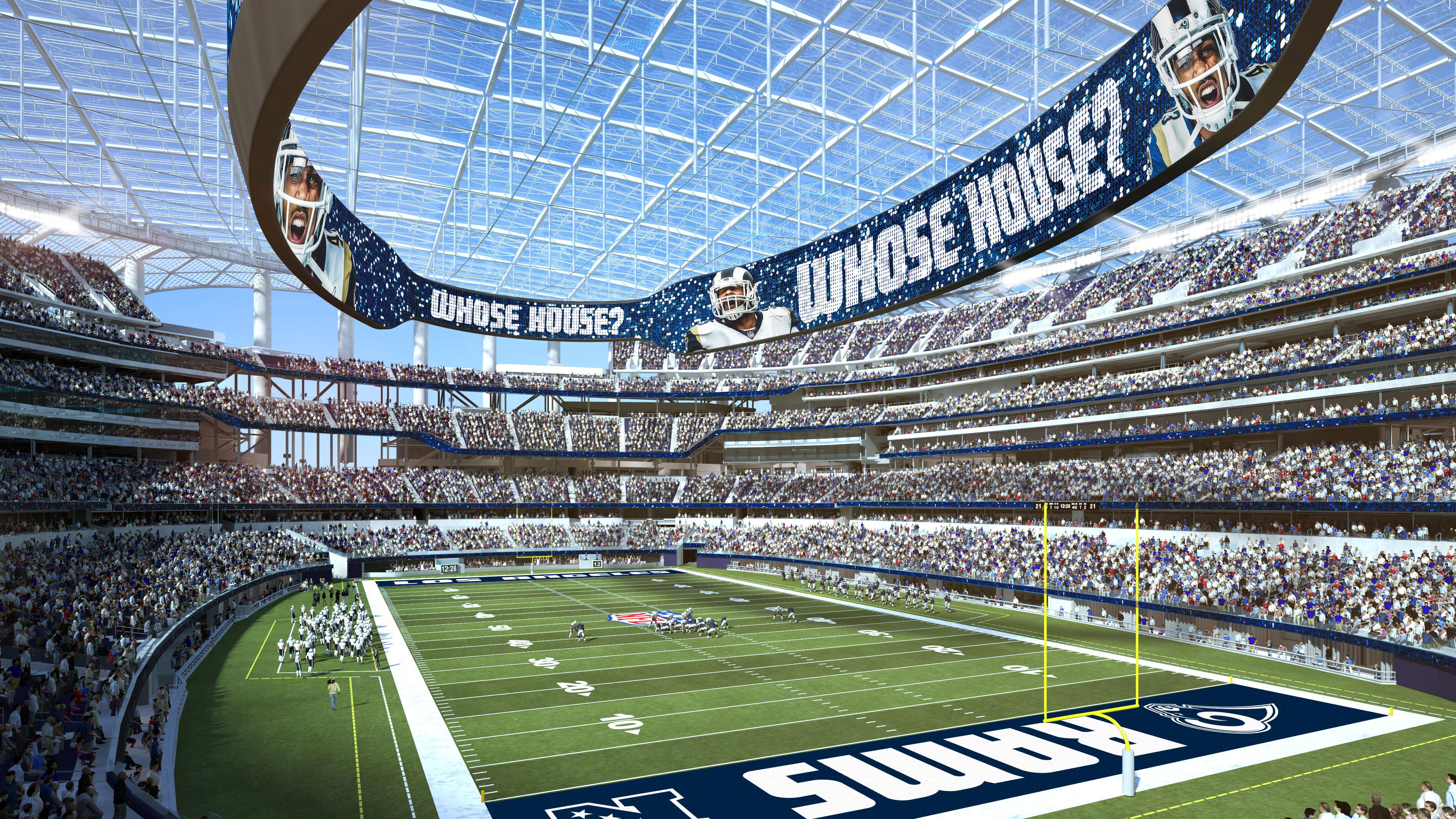 New La Stadium Los Angeles Rams Nfl Football Field Diagram Latest On Entertainment District