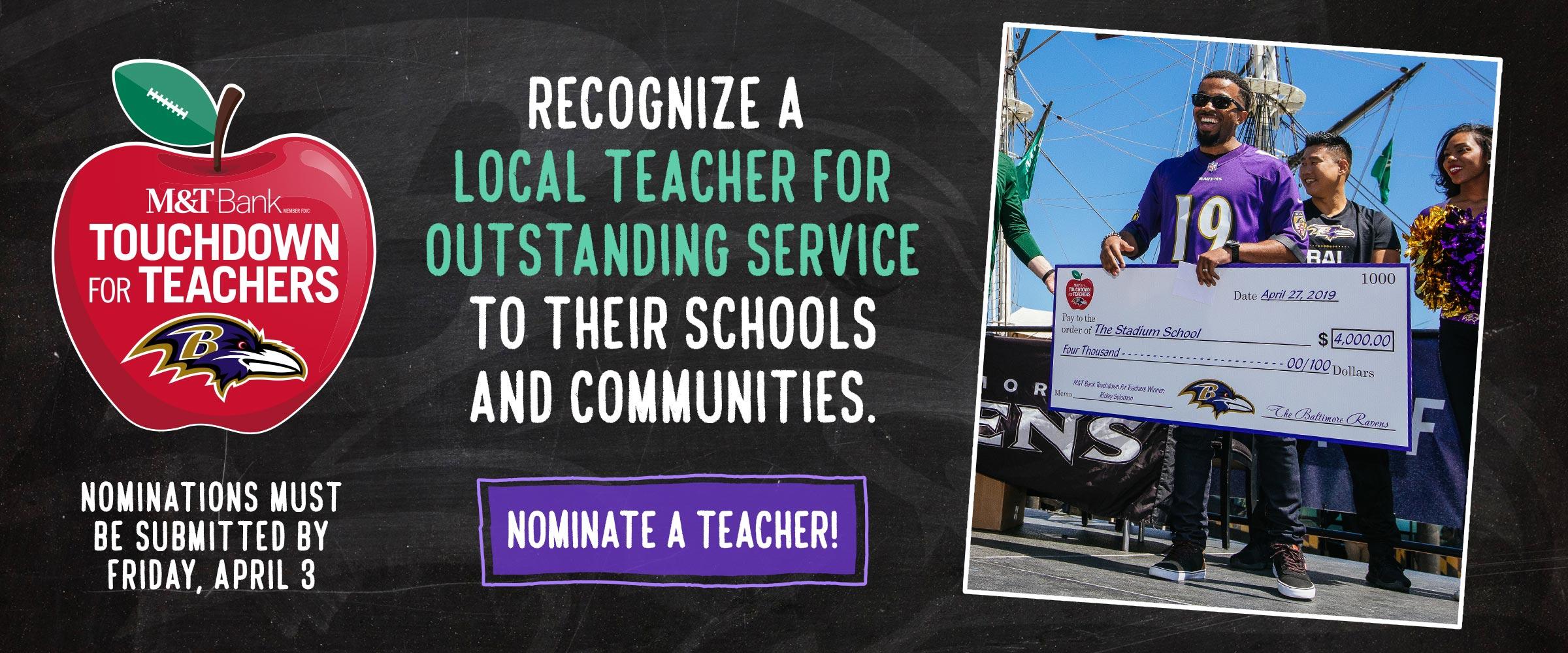Nominate a teacher
