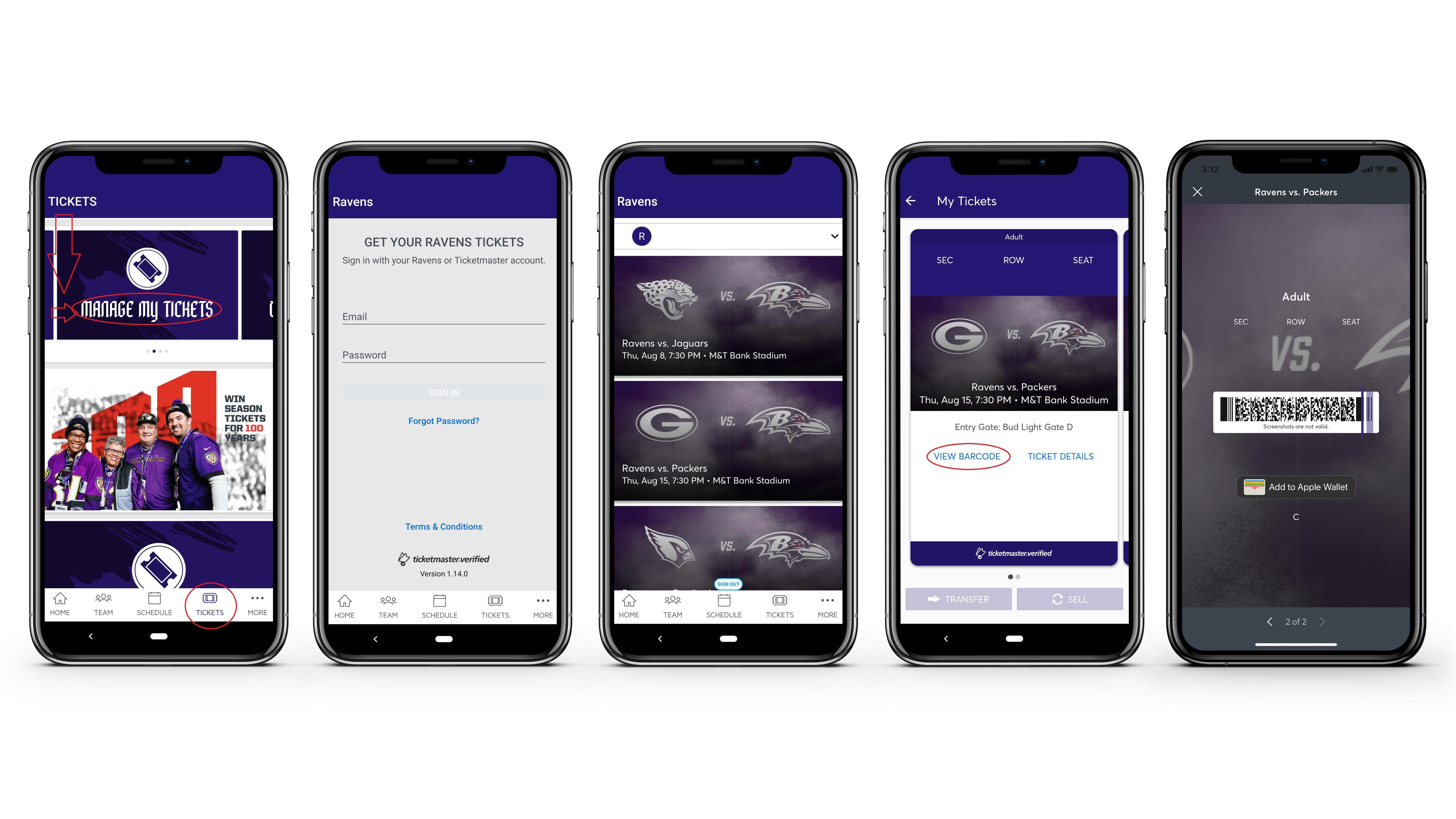 Baltimore Ravens Digital Tickets | Baltimore Ravens