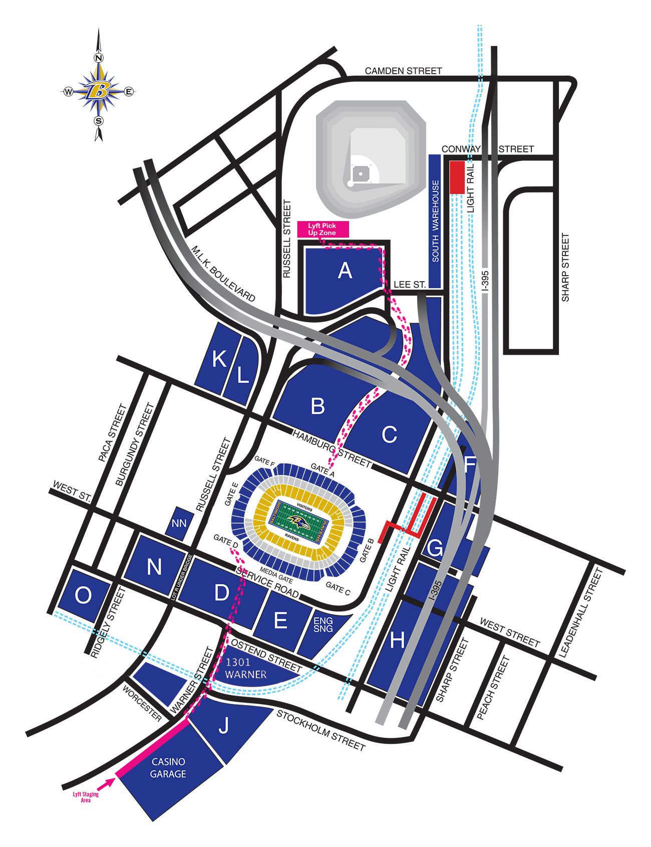 Ravens Stadium Map M&T Bank Stadium Diagrams | Baltimore Ravens – baltimoreravens.com