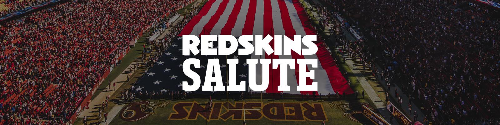 wholesale dealer b3a83 d0f8d Redskins Salute | Washington Redskins - Redskins.com