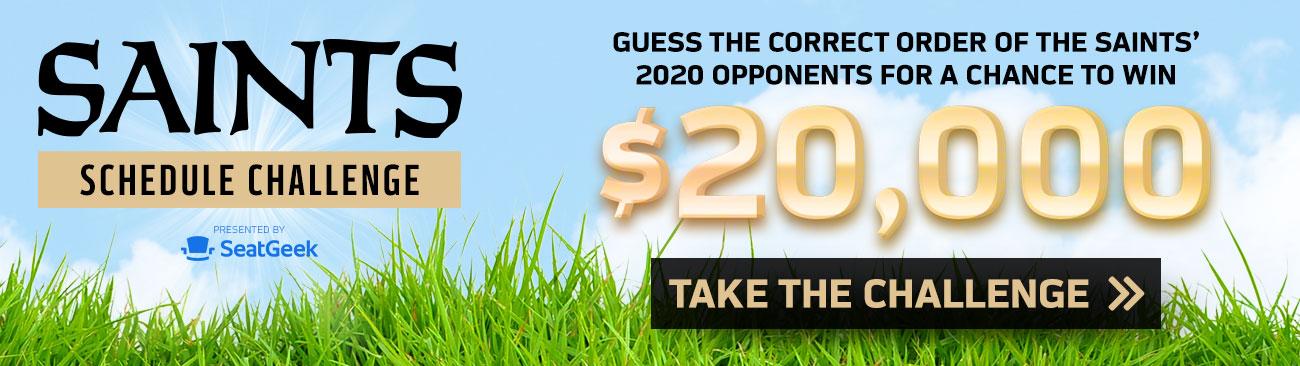 Play the 2020 Saints Schedule Challenge
