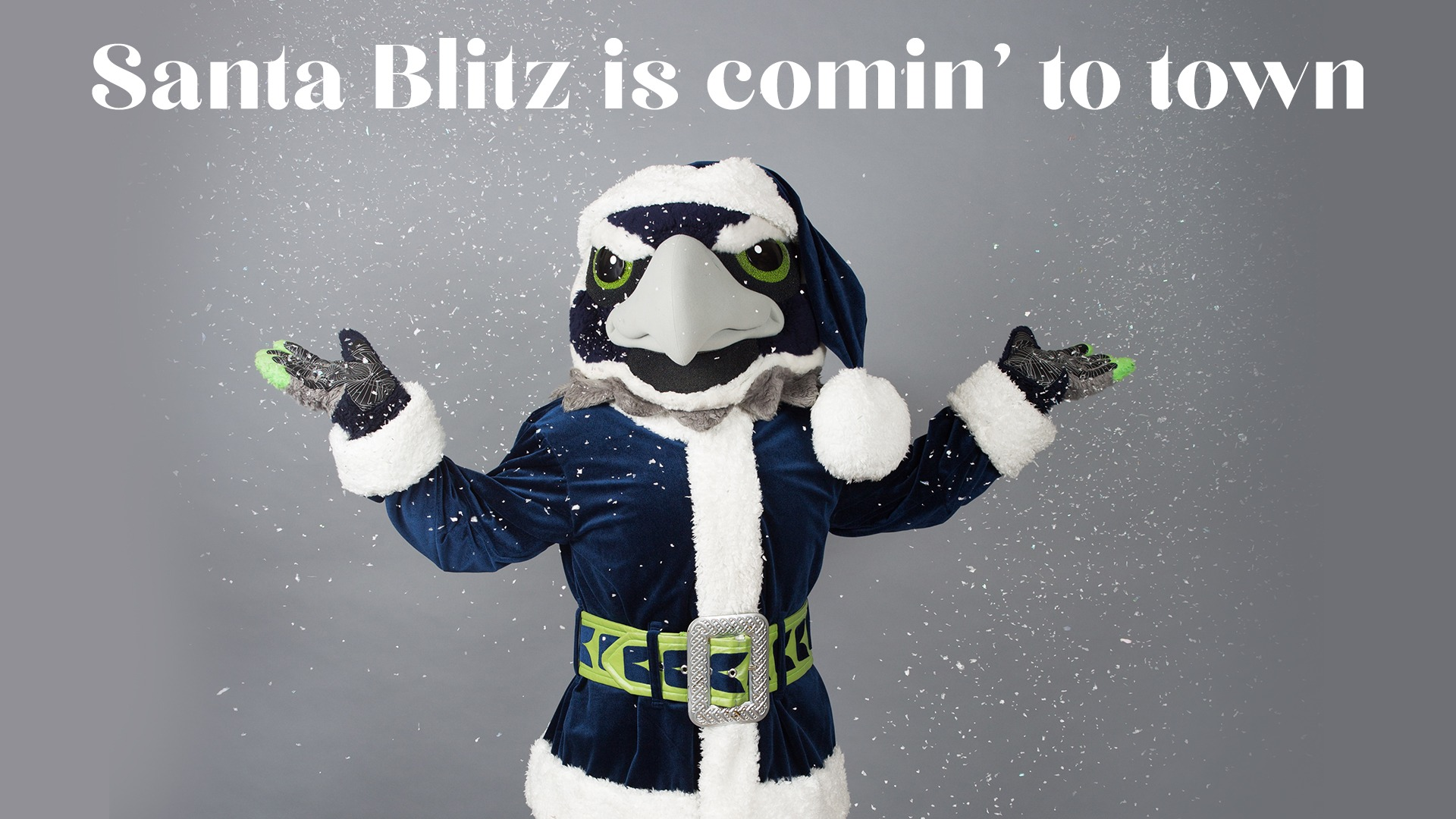 Get your photo with Santa Blitz & the Sea Gals!