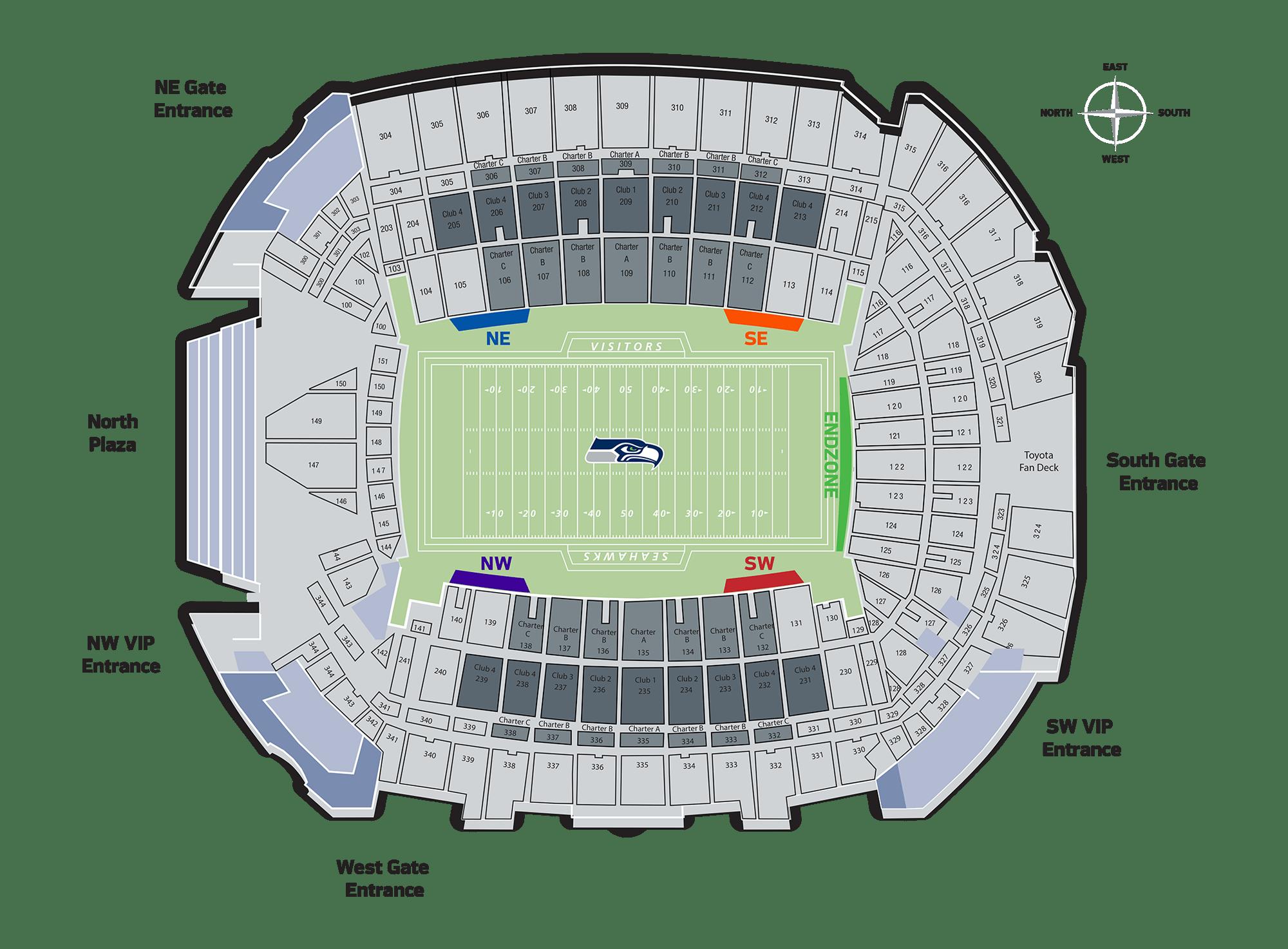 Seattle Seahawks Field Seats Seattle Seahawks Seahawkscom
