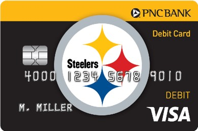 Be a PNC Bank Steelers Affinity Debit Cardholder