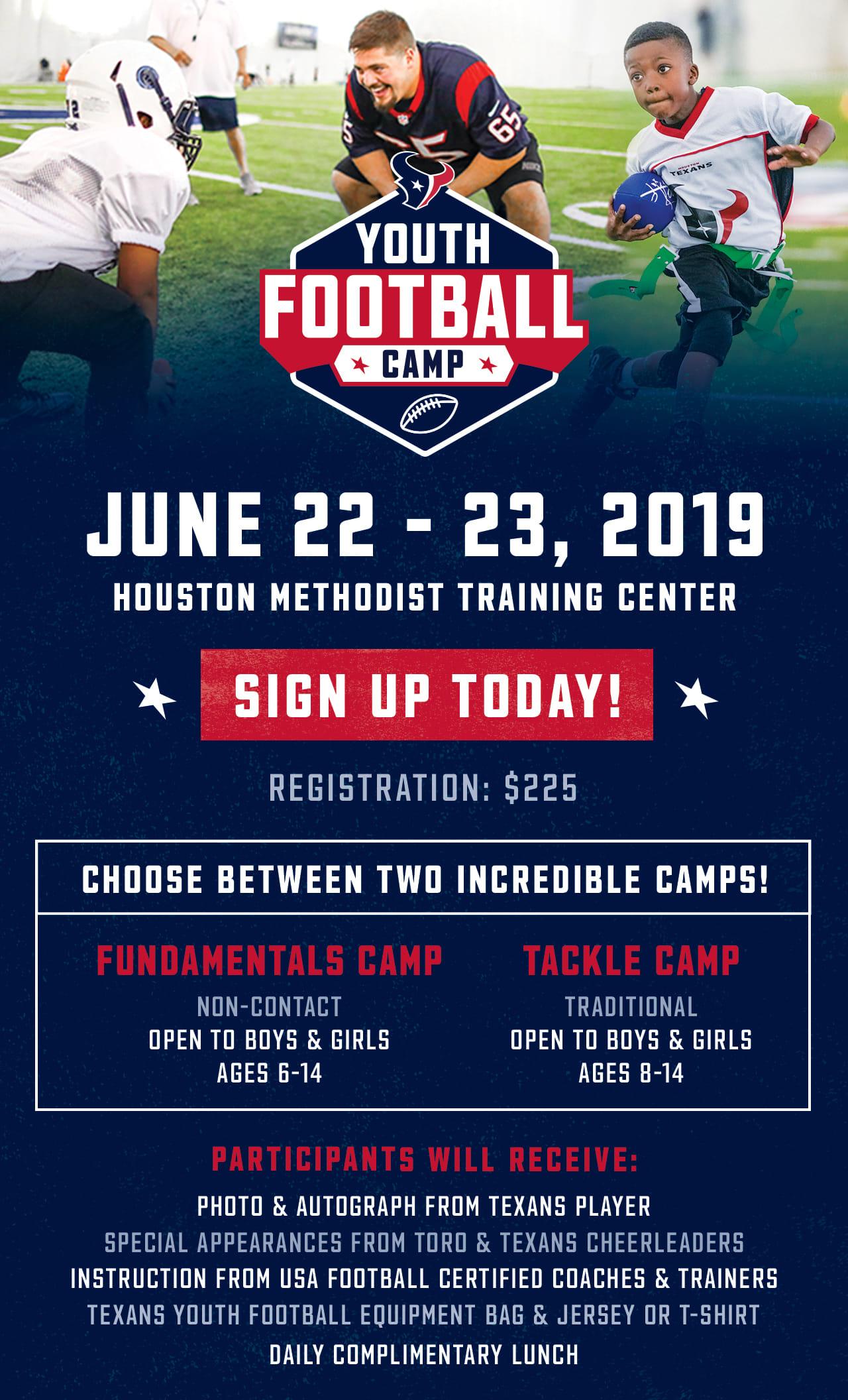 e815d273 Youth Football Camp | Houston Texans - HoustonTexans.com