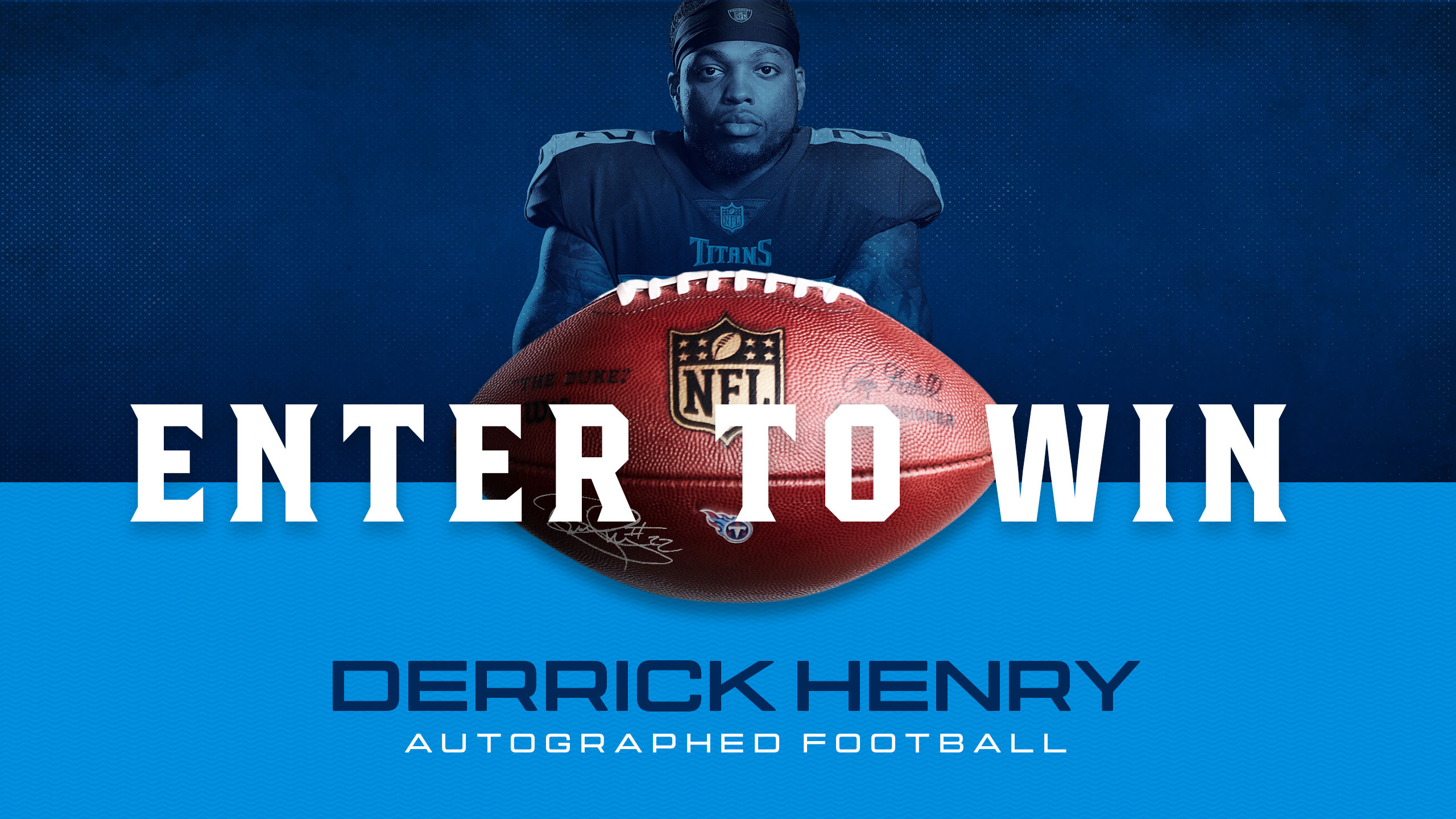Derrick Henry Autographed Football Sweepstakes