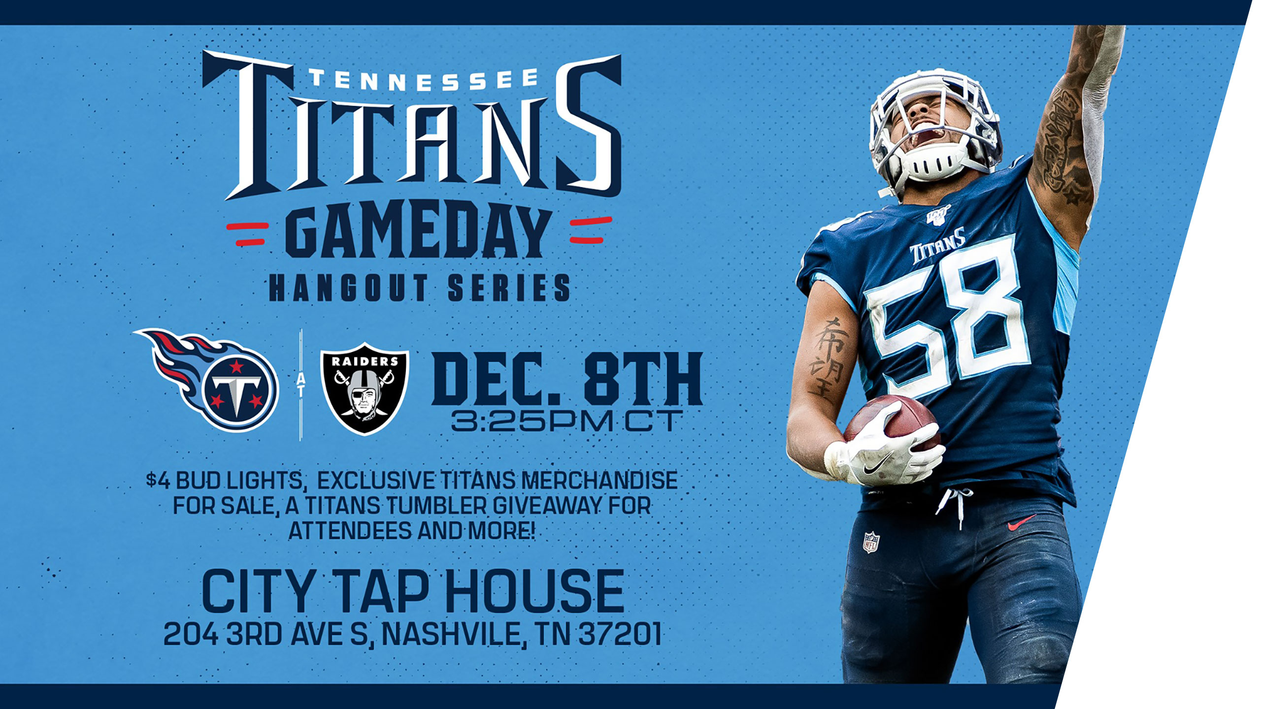 Titans-Raiders Watch Party