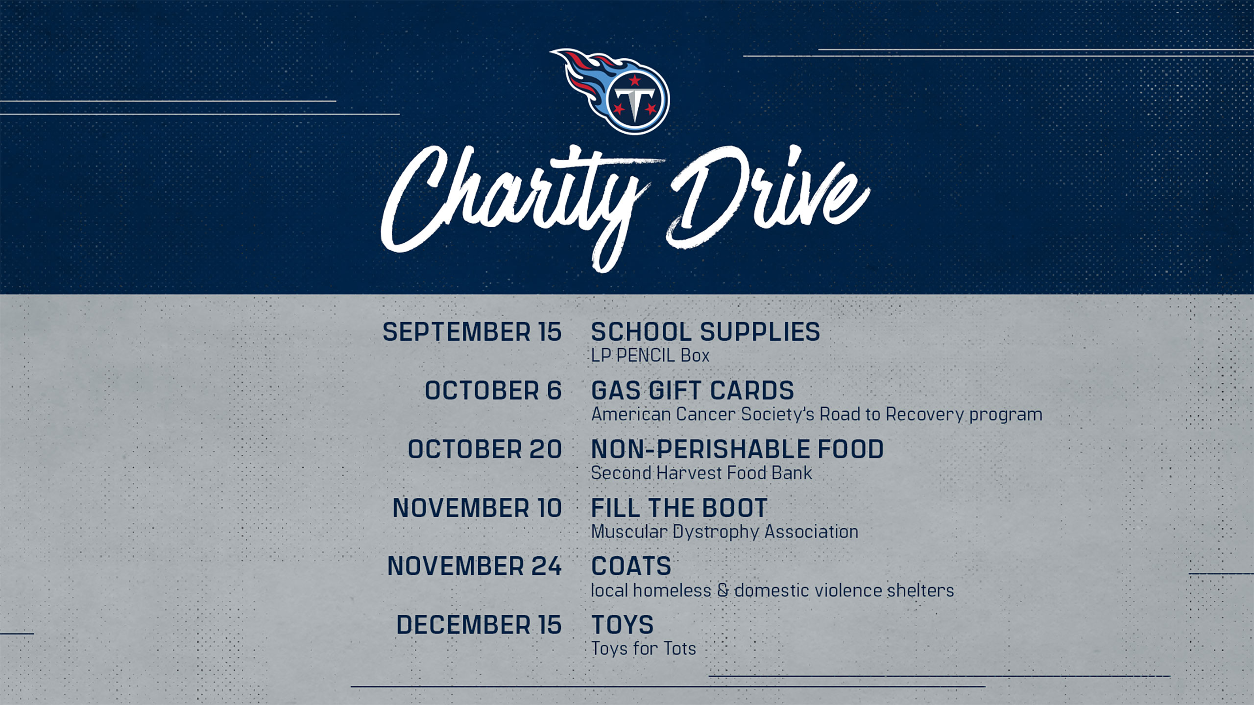 Charity Drives