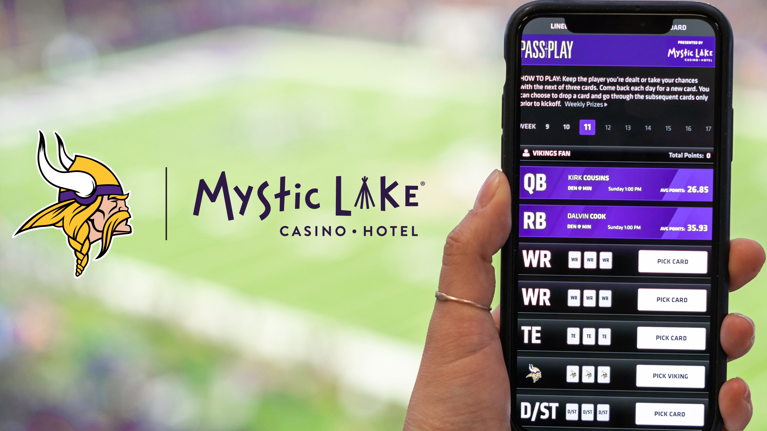 'Pass or Play' Game Now Available In The Vikings App