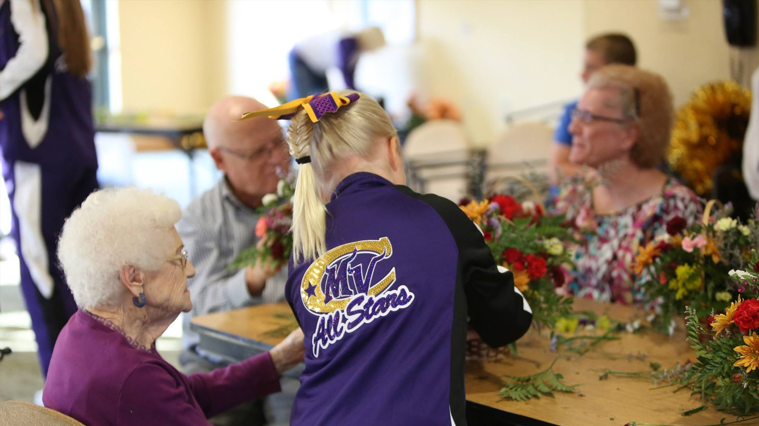 Community service event at a local nursing home