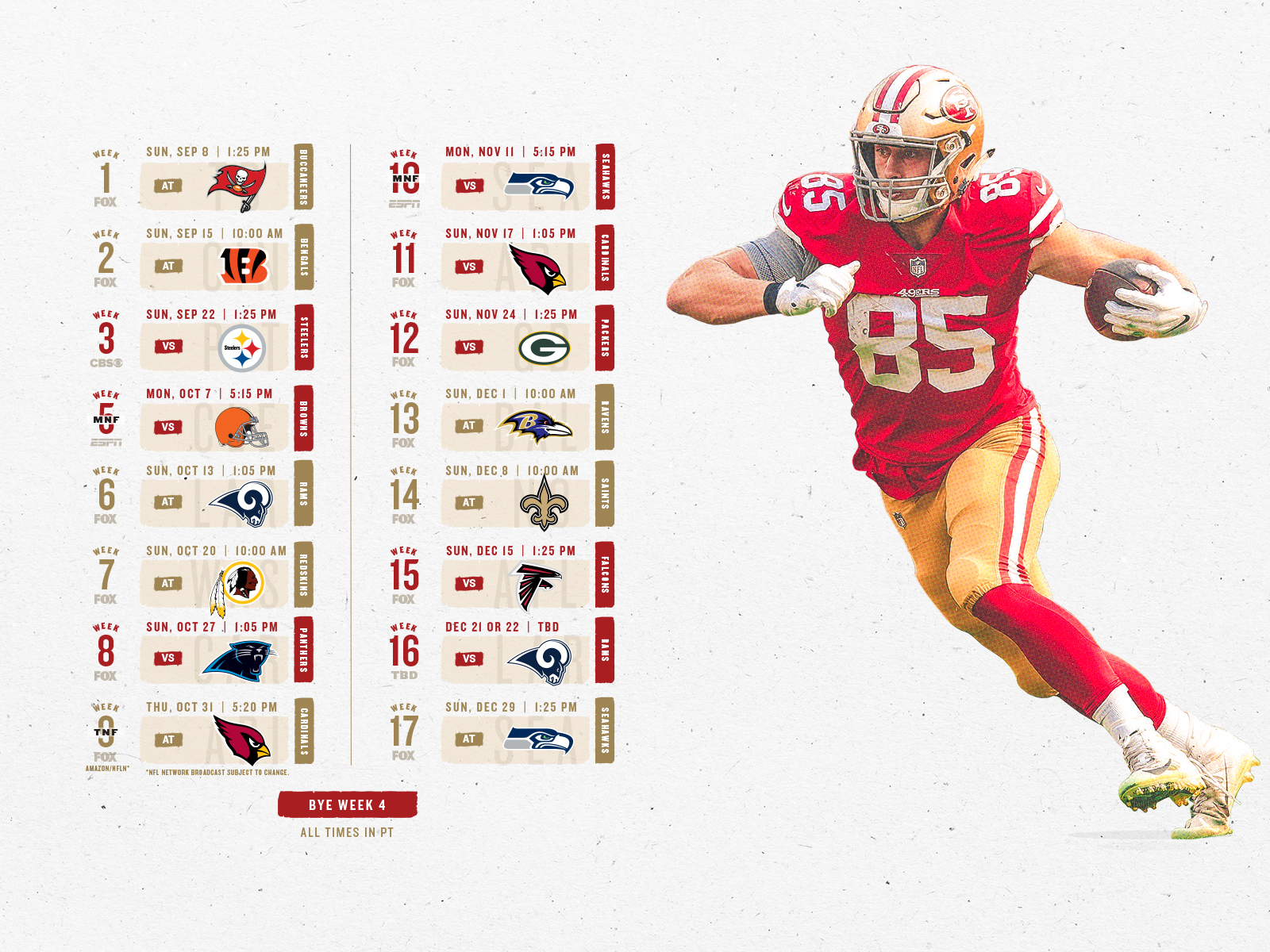 photograph relating to 49ers Schedule Printable known as 49ers Enthusiasts San Francisco 49ers