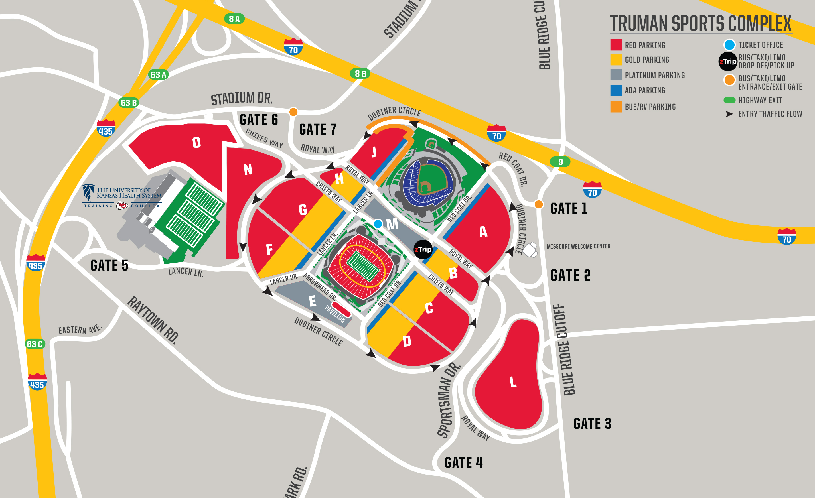 Chiefs Parking & Tailgating - Directions & Maps | Kansas City Chiefs on