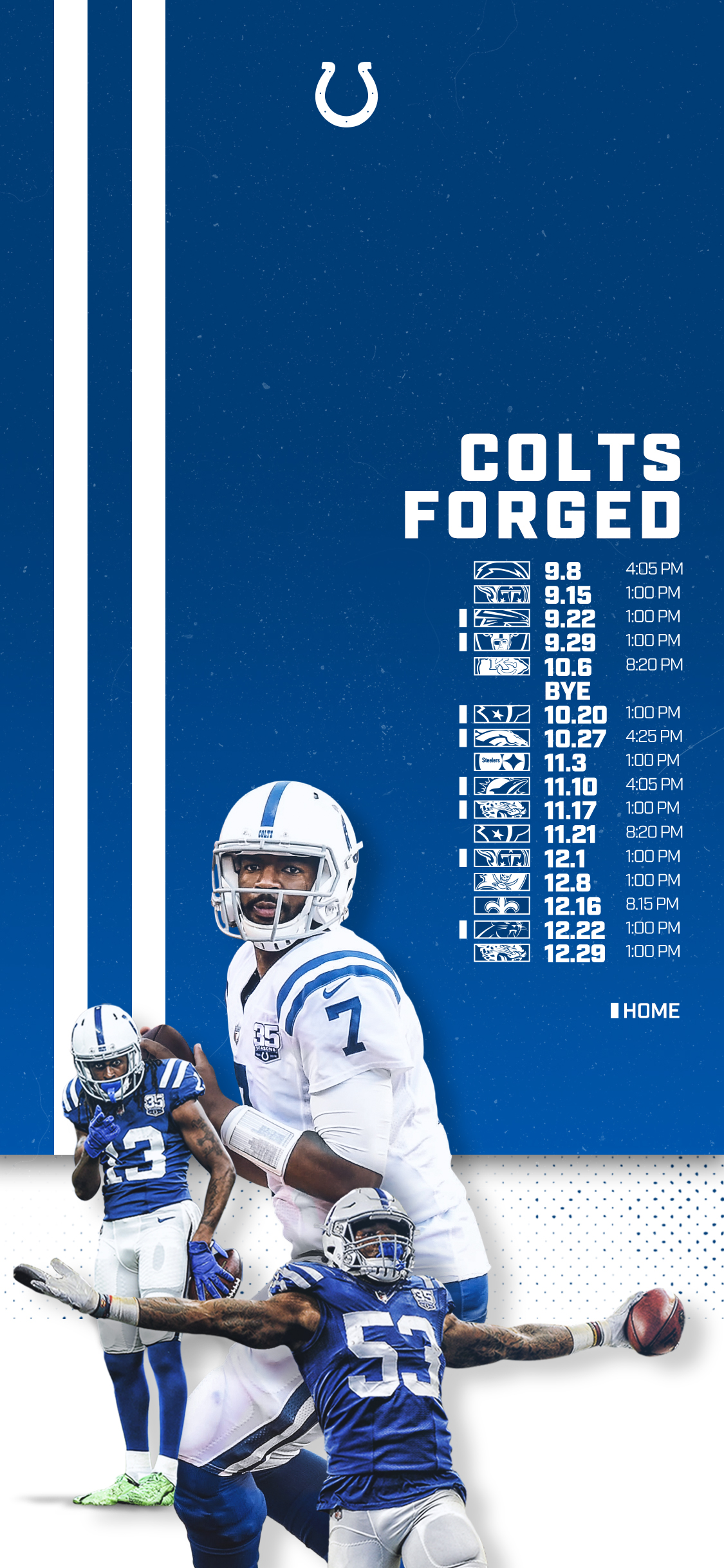 graphic relating to New England Patriots Printable Schedule titled Indianapolis Colts Routine