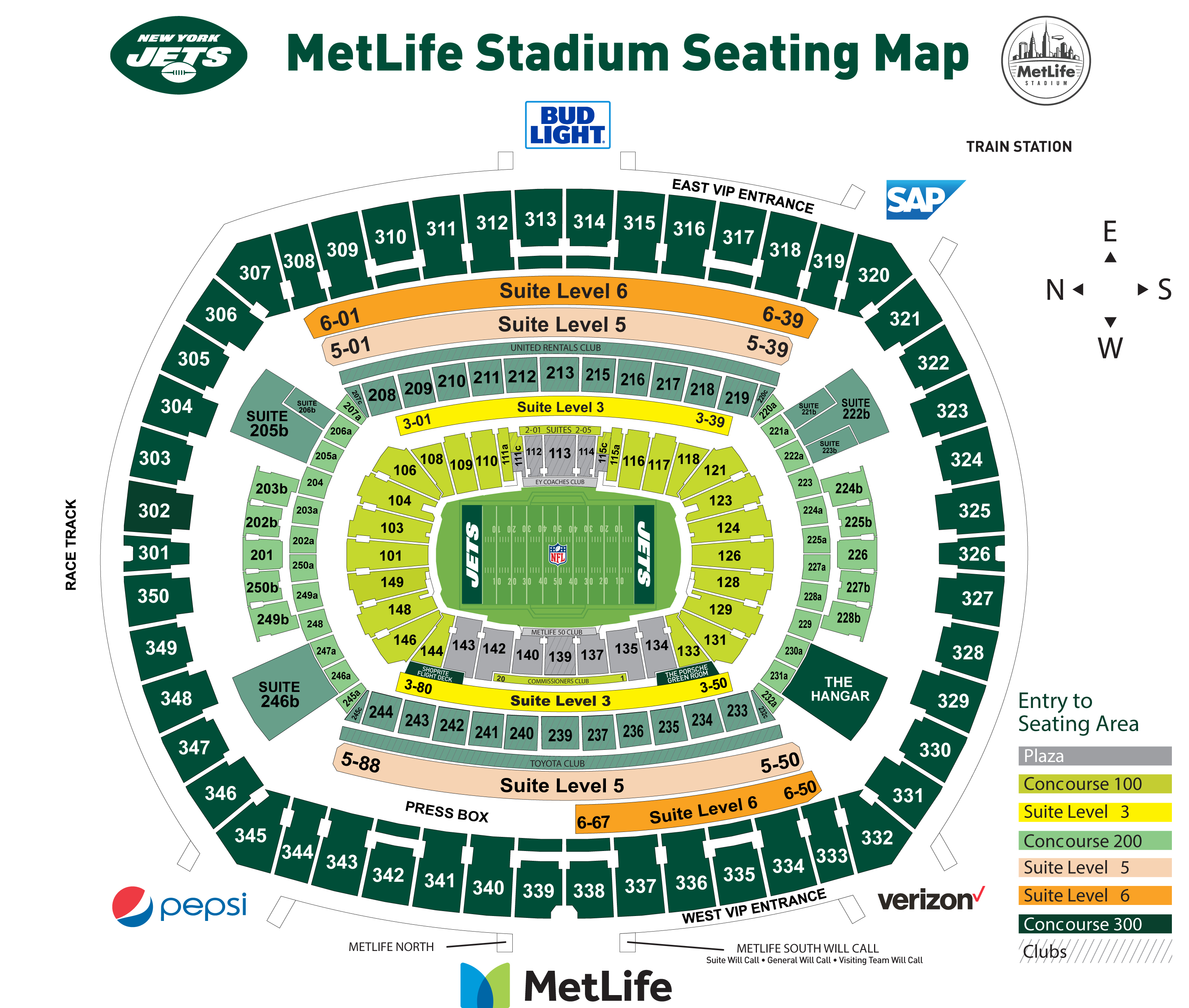 New York Jets | Pricing Chart Cleveland Browns Stadium Seat Map on