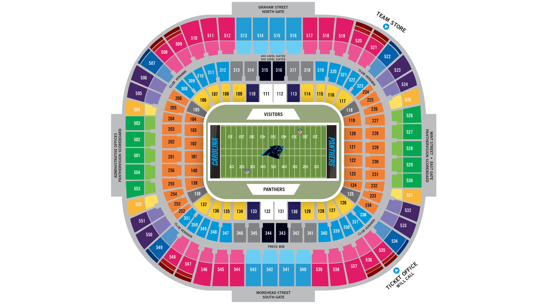 Stadium diagram carolina panthers panthers com