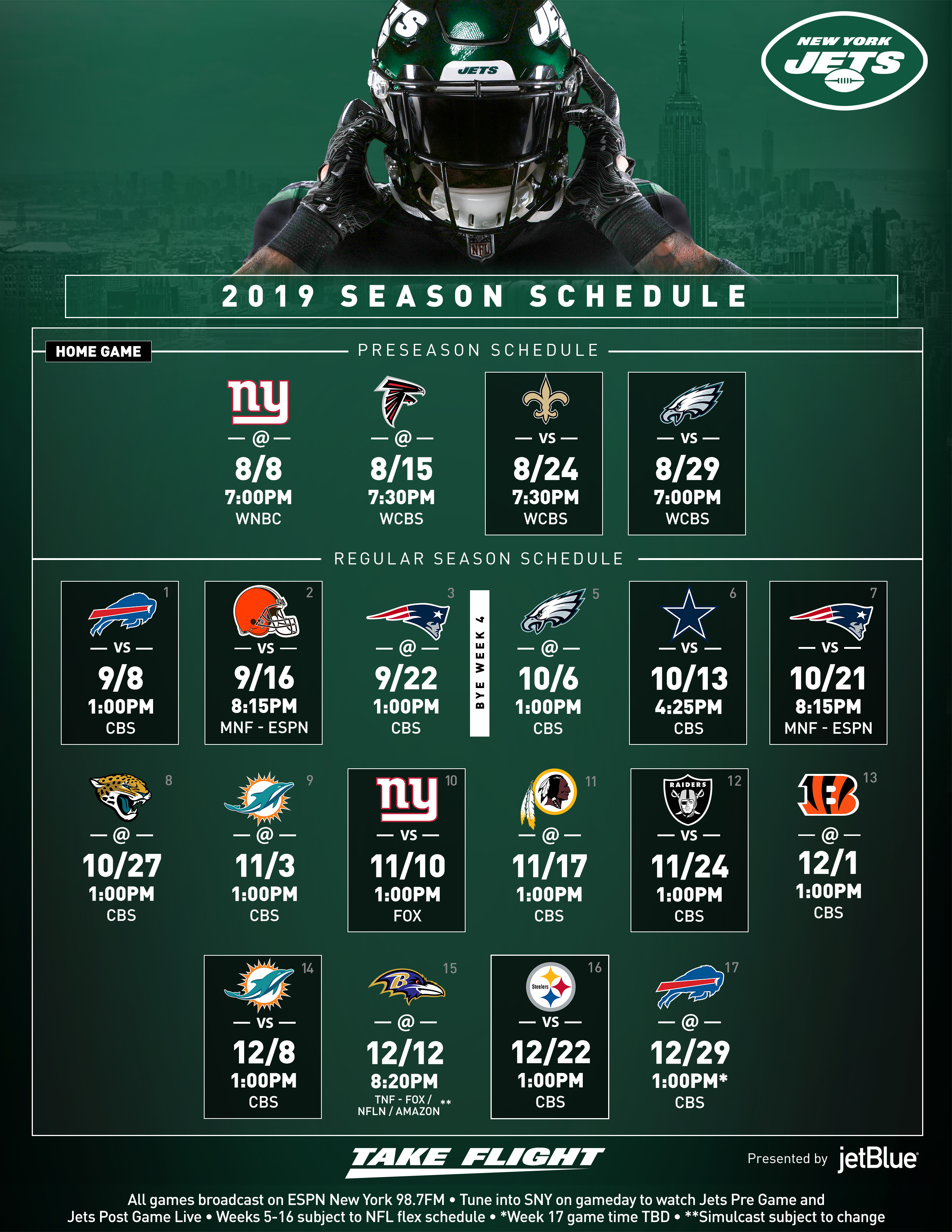 New York Jets Record 2020 New York Jets | Schedule