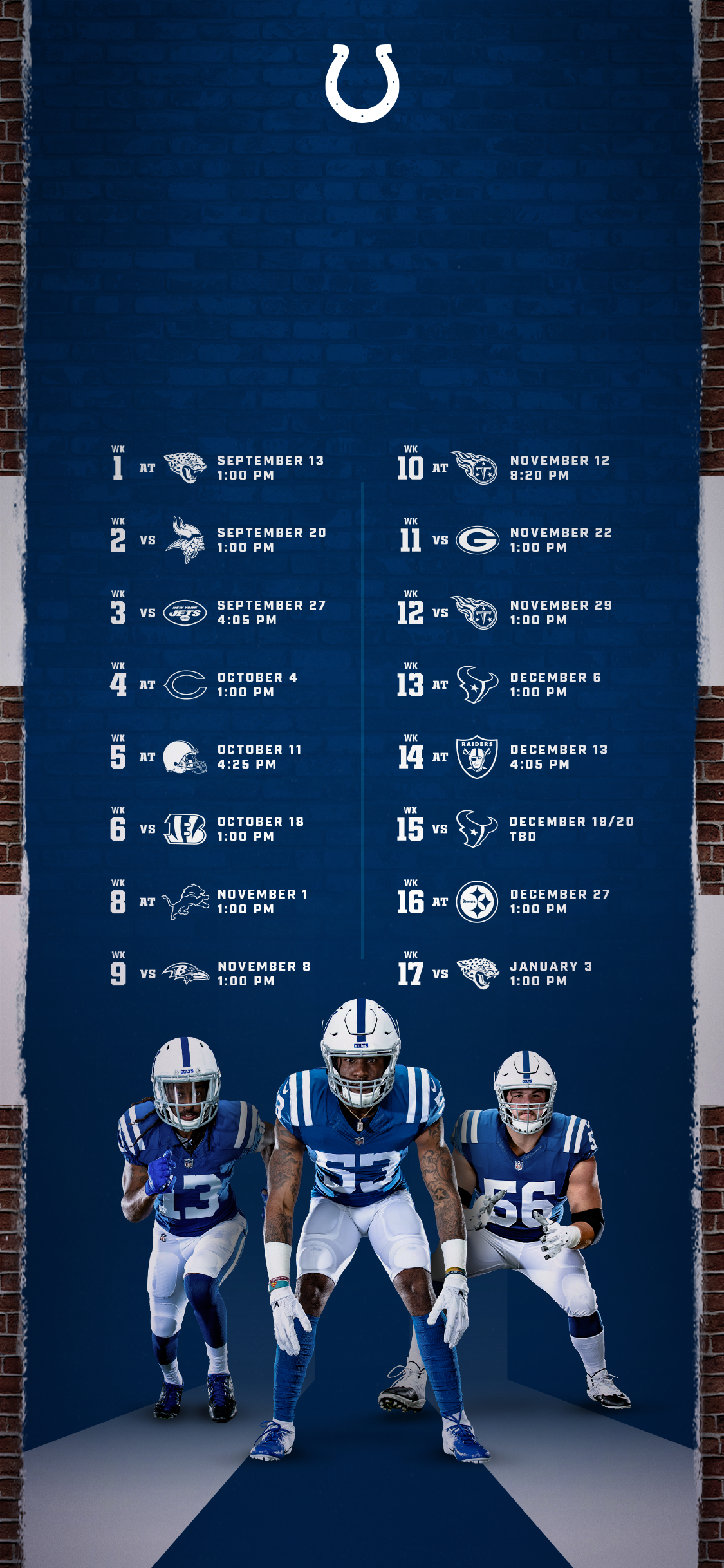 Colts Schedule Indianapolis Colts Colts Com