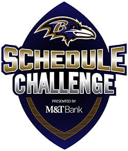 Ravens Schedule Challenge Logo