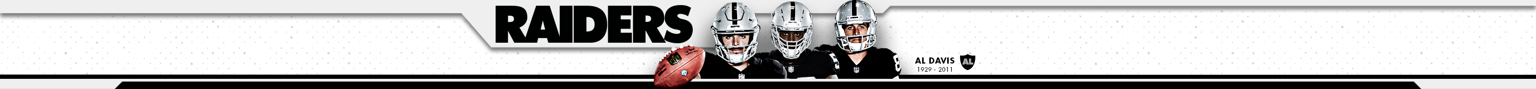Raiders.com Website Header